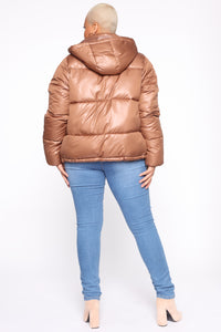 Don't Rain On My Puffer Jacket - Camel Angle 10