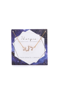 Written In The Stars 'Scorpio' Necklace - Gold Angle 3