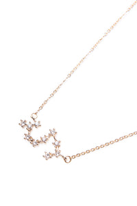 Written In The Stars 'Scorpio' Necklace - Gold Angle 2