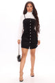 Fall Into Me Corduroy Dress - Black