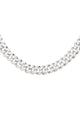 "18"" All Ice Cuban Chain Necklace - Silver"