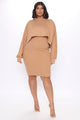 Take Notes Dress Set - Mocha