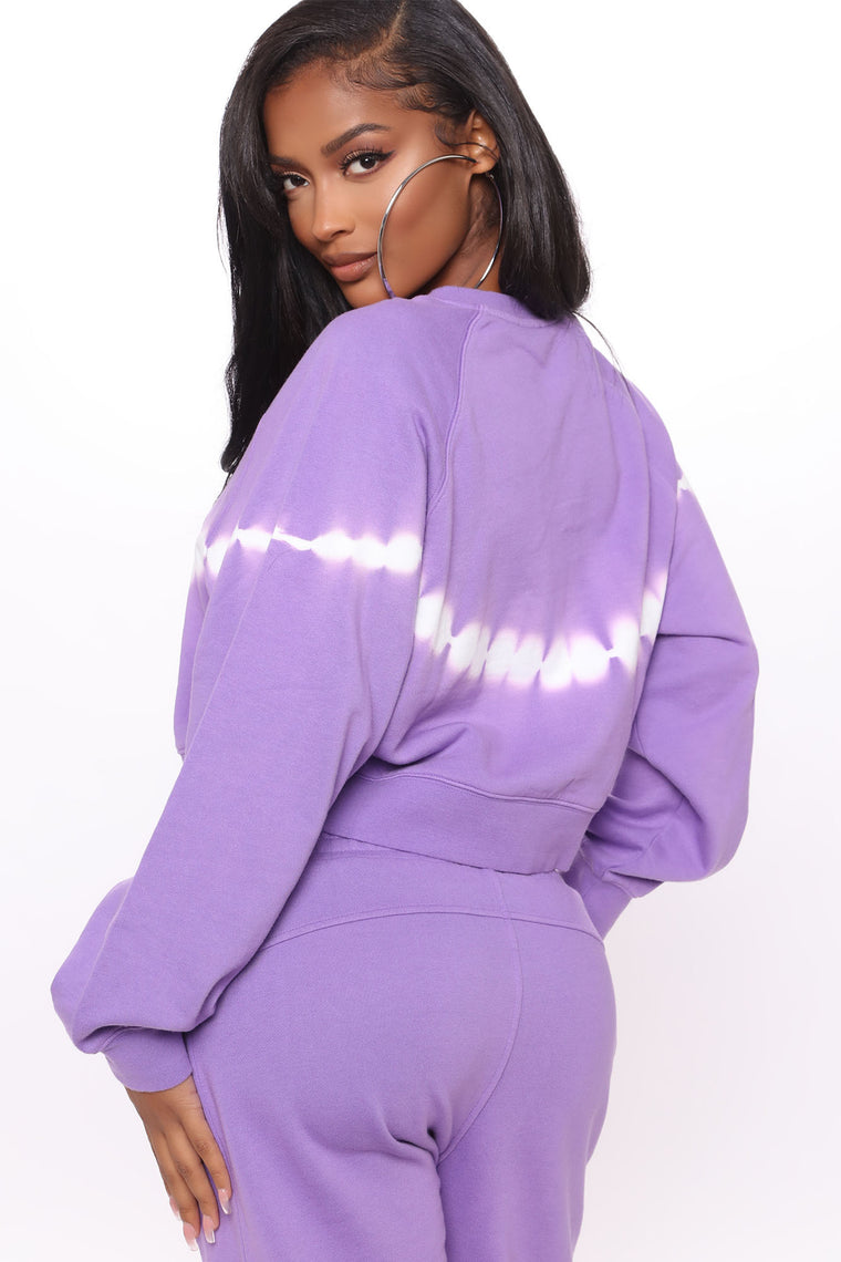 Light Up My Life Long Sleeve And Jogger Set - Purple/combo