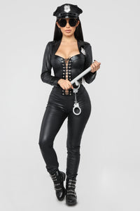 Frisky Officer Costume - Black