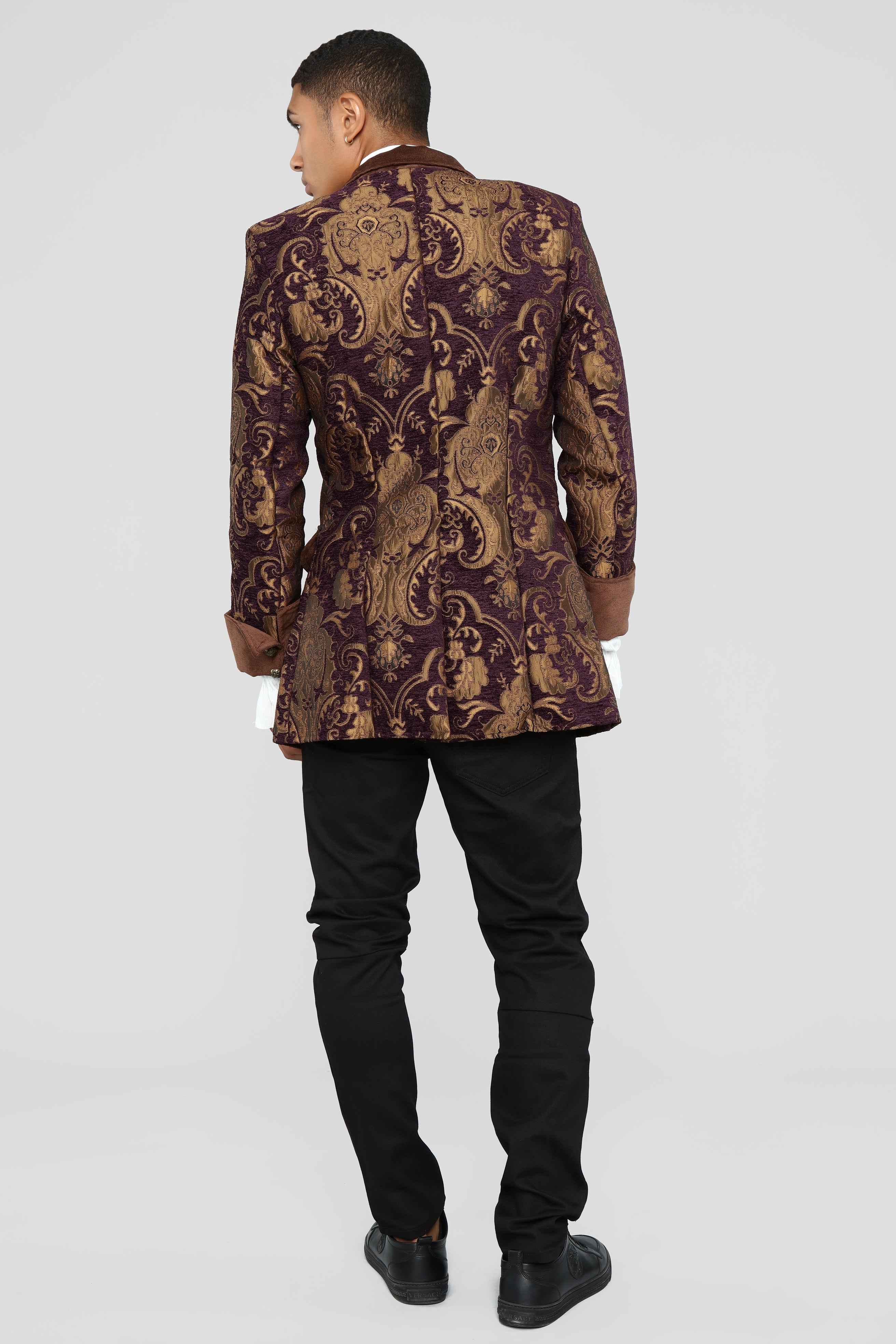 cd3068ee4a2 Mens Pirate Jacket - Brown combo