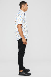 Manning Short Sleeve Woven Top - Multi Angle 4
