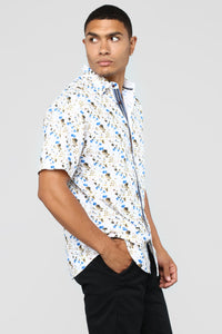 Manning Short Sleeve Woven Top - Multi Angle 3