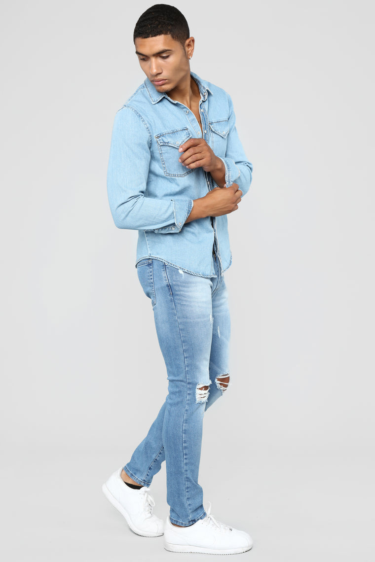Ibiza Skinny Jeans - Medium Blue Wash