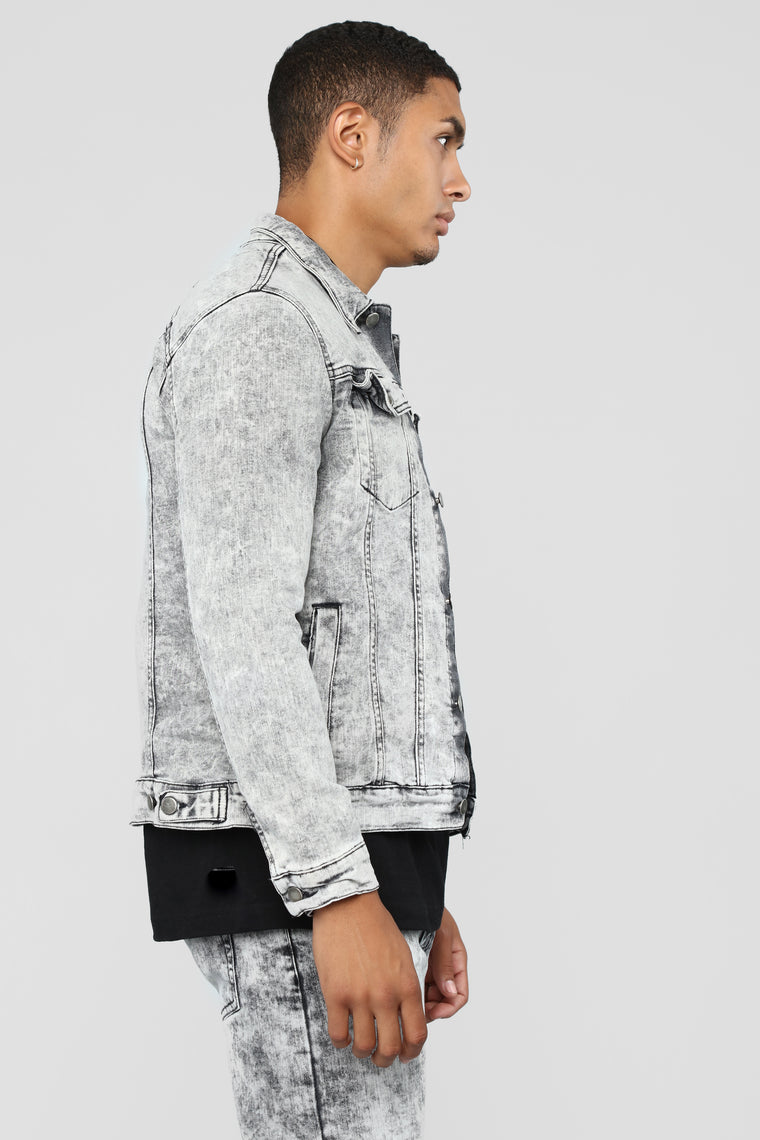 Powder Denim Jacket - Grey
