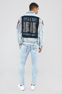 Marble Skinny Jeans - Light Blue Wash