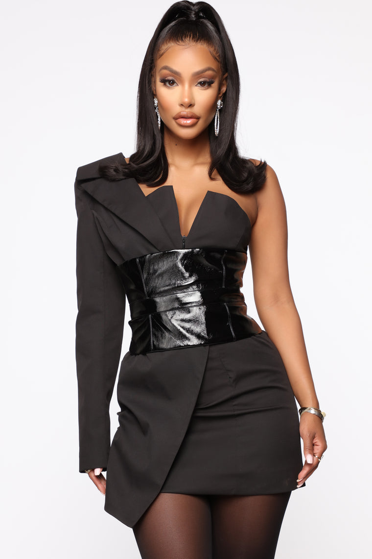 Gotta Work Blazer Mini Dress   Black by Fashion Nova