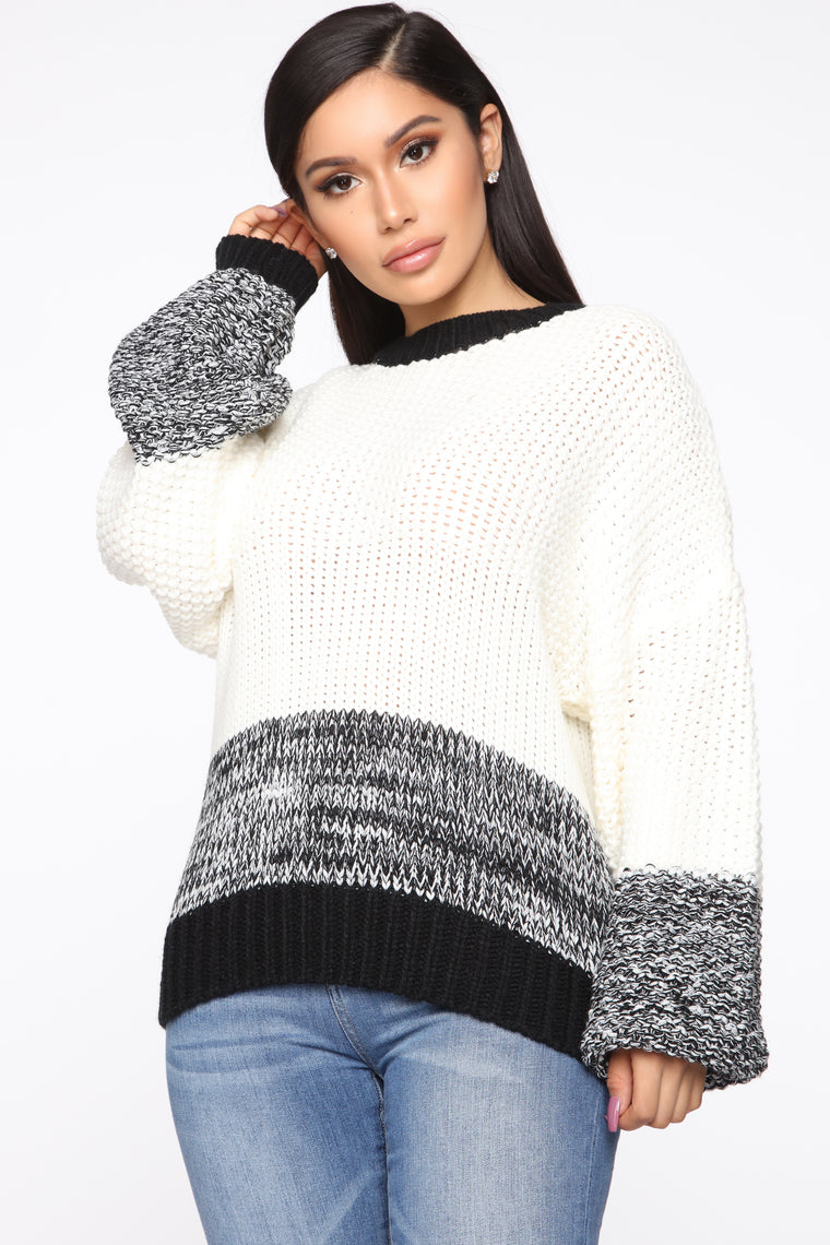 Mixed Feelings Sweater - Ivory/combo