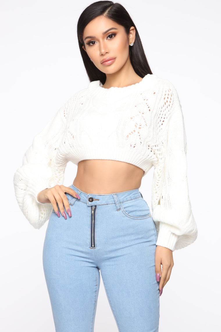 Hiding Secrets Sweater - Ivory