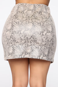 Whispers Only Mini Skirt - Taupe