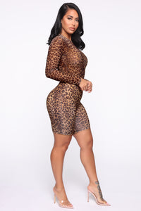 Ready If You Are Biker Short Set - Leopard Angle 4