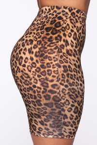Ready If You Are Biker Short Set - Leopard Angle 9