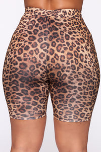 Ready If You Are Biker Short Set - Leopard Angle 10