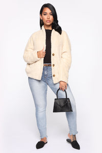 Ooh Baby Faux Fur Jacket - Ivory