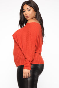 Just Your Type One Shoulder Top - Rust