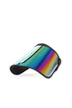 Blocking You Out Oversize Visor - Iridescent