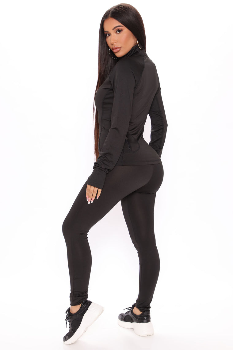 First Place Ankle Length Leggings - Black