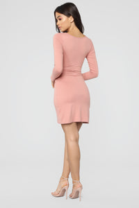 Celene Wrap Dress - Mauve