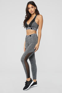 Bad At Love Active Leggings - Grey