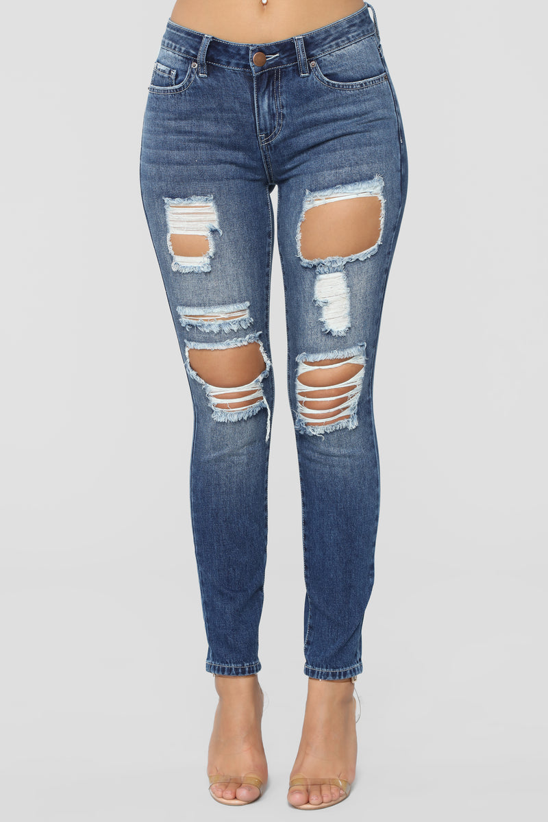 Look For Your Love Skinny Jeans - Dark Denim
