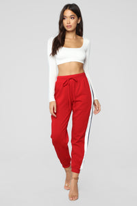 Above Average Lounge Joggers - Red