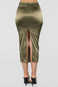 Across The Galaxy Skirt - Olive