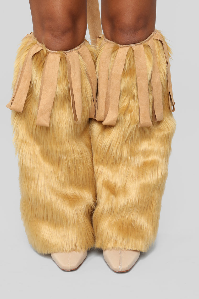Lioness Leg Warmers - Camel