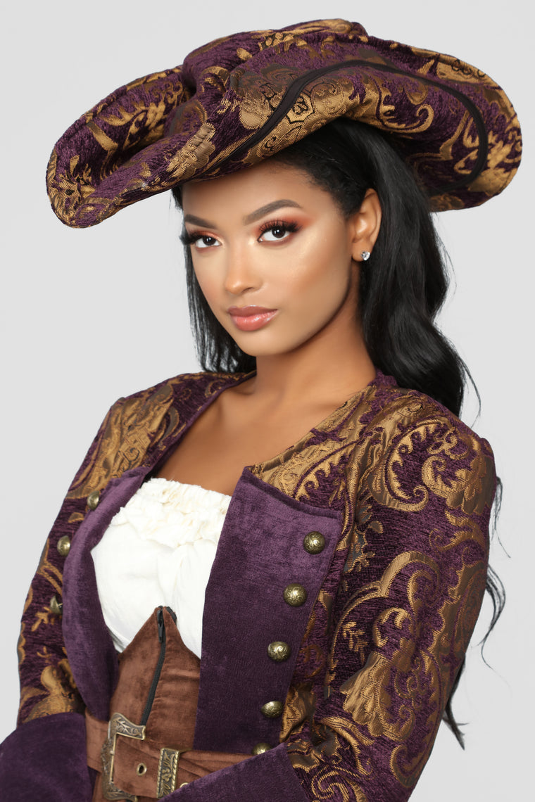 Decadent Pirate Diva Costume - Brown/combo