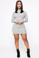 Daytime Dreamer Mini Dress - Grey