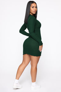Daytime Dreamer Mini Dress - Hunter