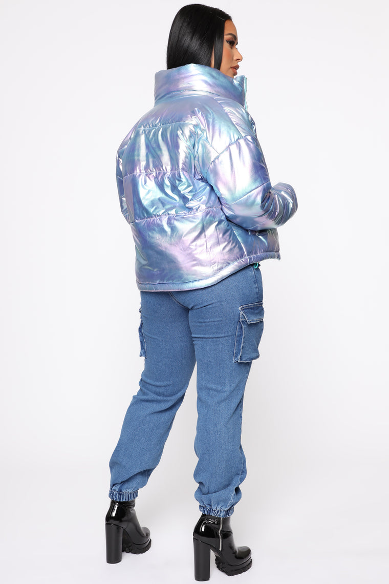 Shining Through The Cold Puffer Jacket - Hologram