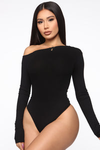 Carla One Shoulder Bodysuit - Black