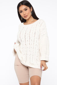 Keep It Cozy Sweater - Ivory Angle 1