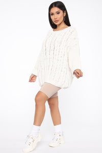Keep It Cozy Sweater - Ivory Angle 4