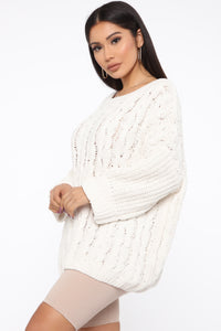 Keep It Cozy Sweater - Ivory Angle 3