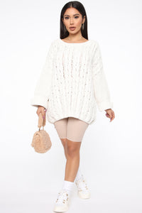 Keep It Cozy Sweater - Ivory Angle 2