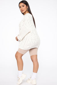 Keep It Cozy Sweater - Ivory Angle 5