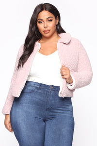 Loss Fur Words Jacket - Lilac