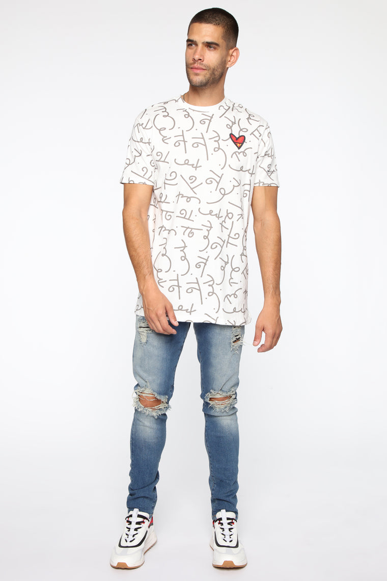 Nothing But Love Short Sleeve Top - White/Combo