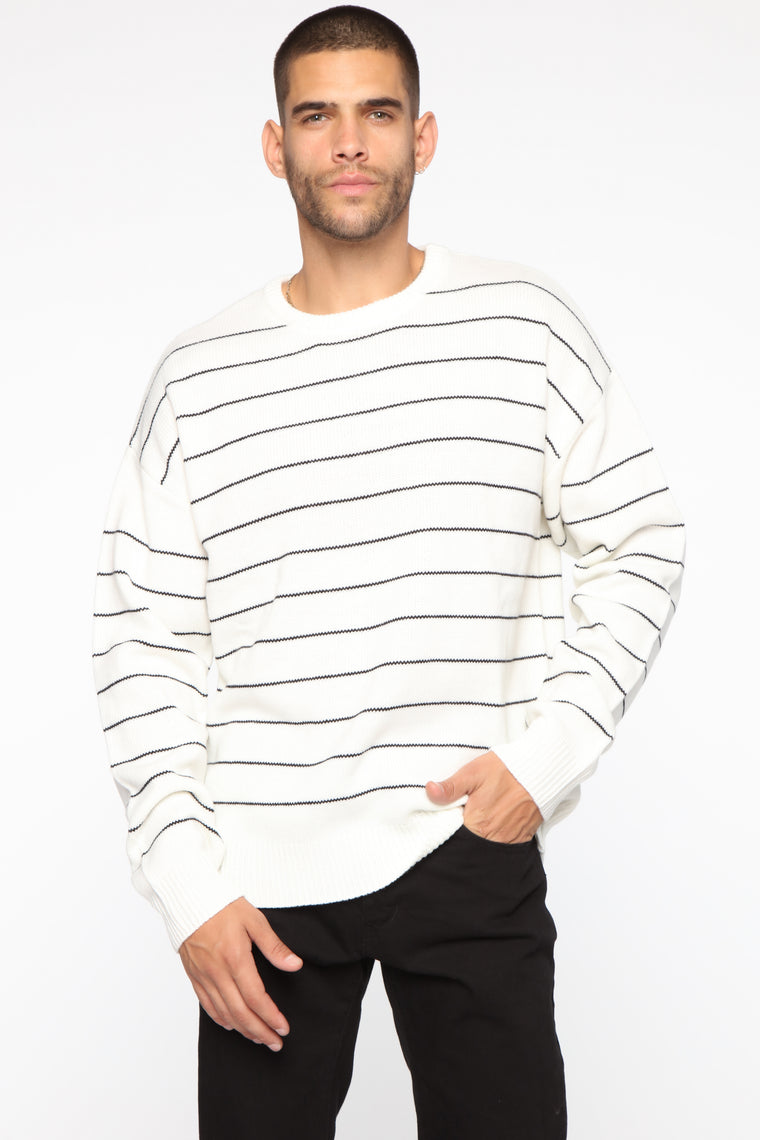 Gideon Sweater - White/Black