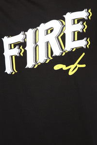 Fire AF Short Sleeve Tee - Black/Yellow