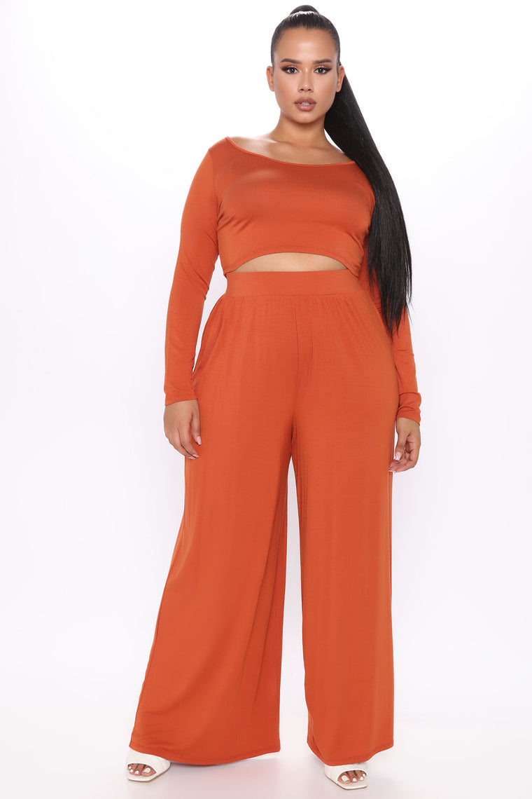 Perfect Touch Pant Set - Rust