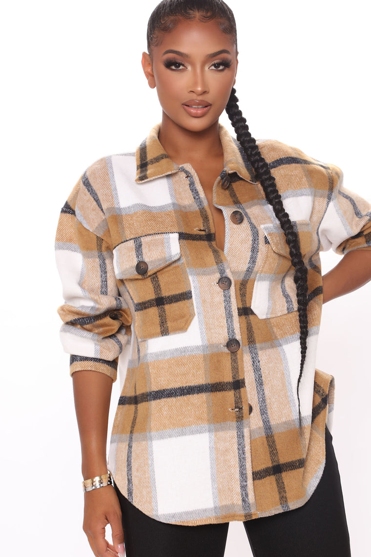 Check Ya Later Flannel Top - Brown/combo