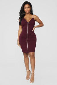 Happy Hour Everyday Dress - Plum Angle 1