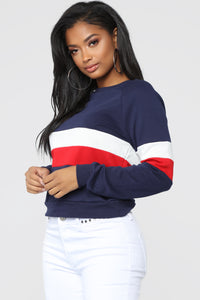 Above Average Lounge Top - Navy