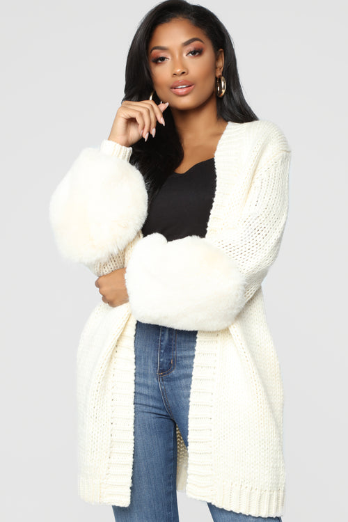 Polar Opposites Knit Cardigan - Cream